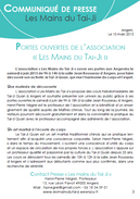 Communiqué de presse - Tai-Ji Quan