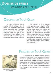 Dossier de presse - Tai-Ji Quan