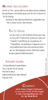 Flyer - Tai-Ji Quan
