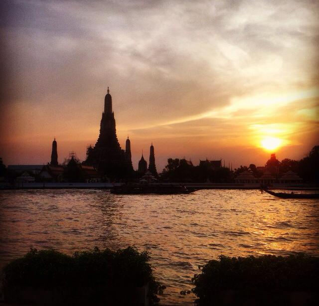 Sunset over Wat Arun