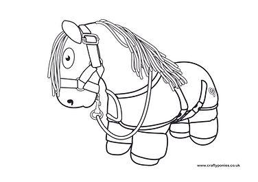 line drawing pony rug.jpg