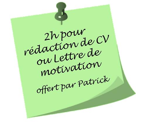 Rédaction CV ou lettre de motivation