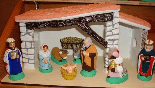 8 santons de la nativité