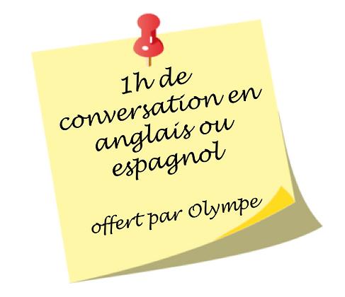 Conversation en anglais ou espagnol