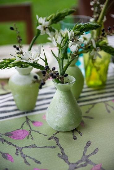 מארז 3 בקבוקונים לפרחים צבע אפור מט
