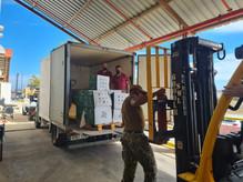Donación de material sanitario para los refugiados de Rota y Morón de la Frontera