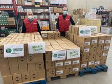 FSFE dona tres palets de material sanitario y de protección frente a la COVID-19 a Caritas Toledo