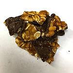 Luxury chocolate peanut brittle