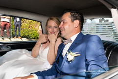 Married couple in a collection car