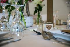 Pretty wedding table decorartion