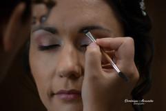 Make-up session of a bride