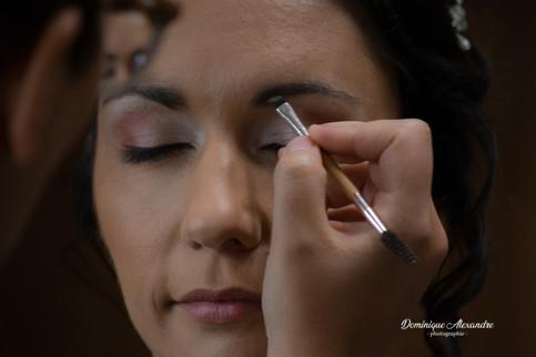 Portrait séance maquillage