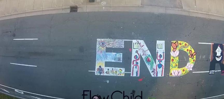 Winston-Salem Community Mural Project: END RACISM NOW #BLM