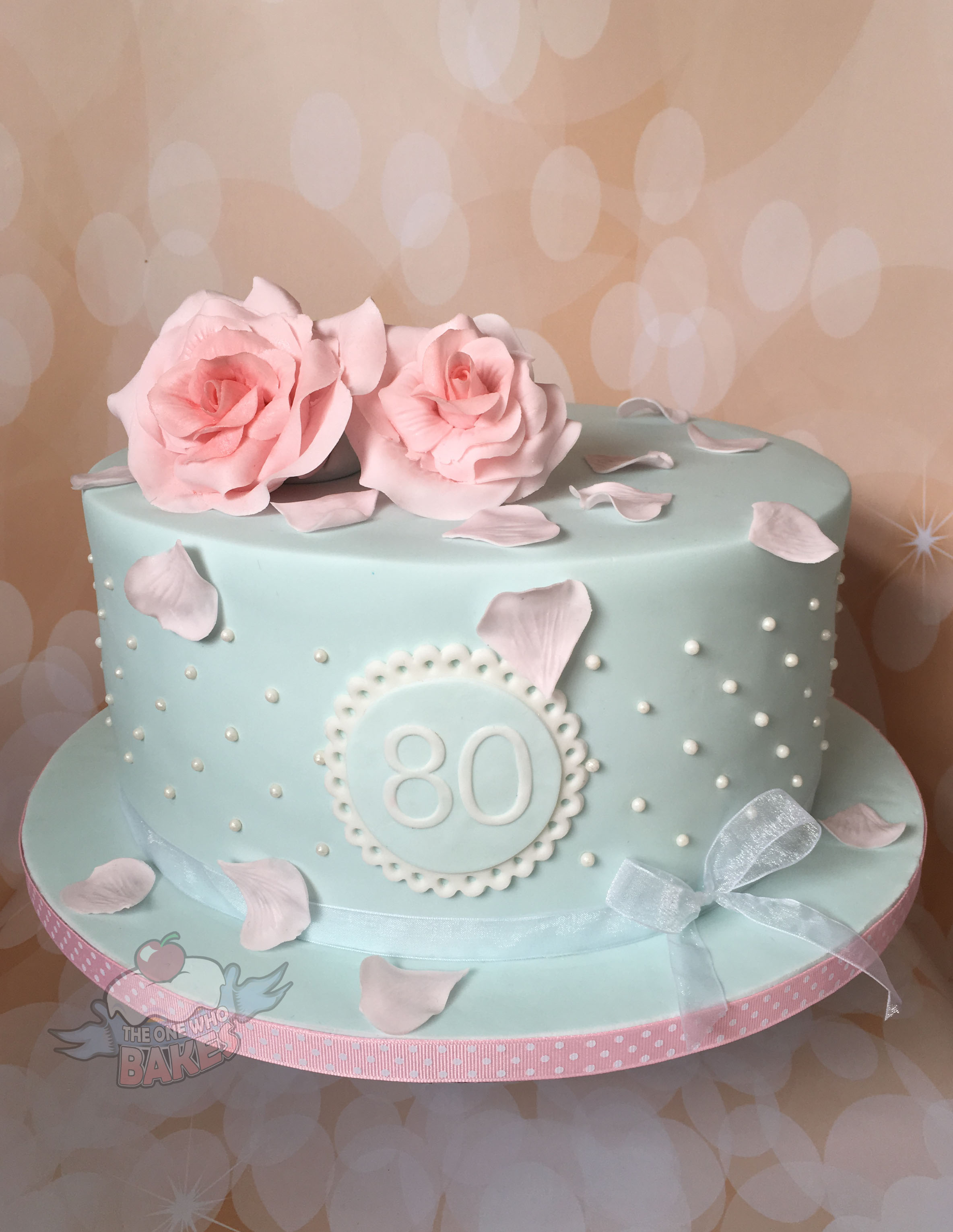 Vintage Rose Birthday Cake