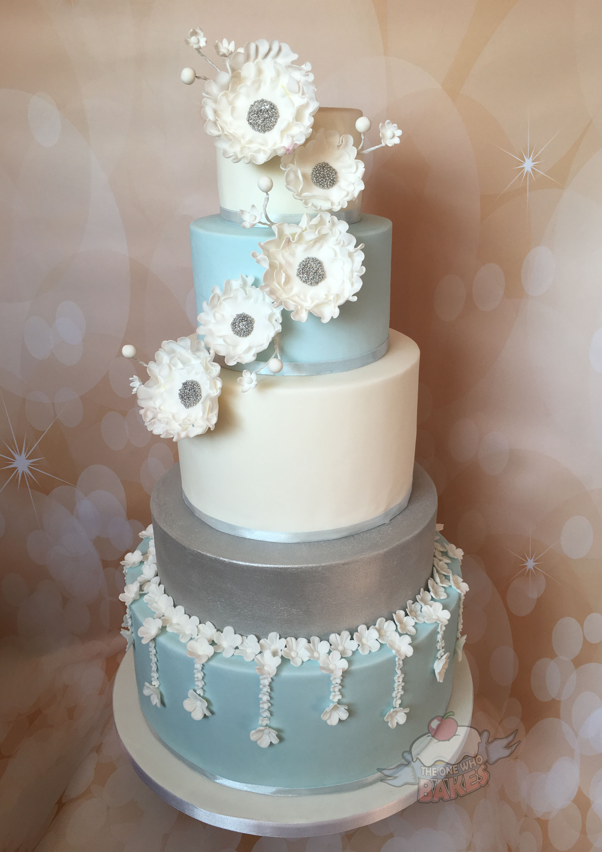 Blossom Sparkle Wedding Cake