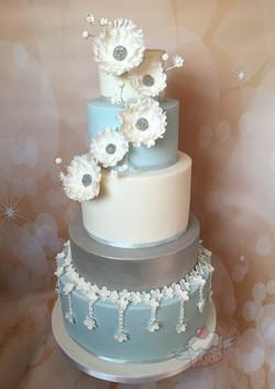 Blossom Sparkle Wedding Cake