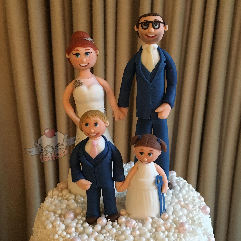 Family Wedding Cake Topper