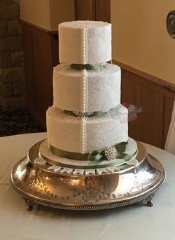 Lace Offset Wedding Cake