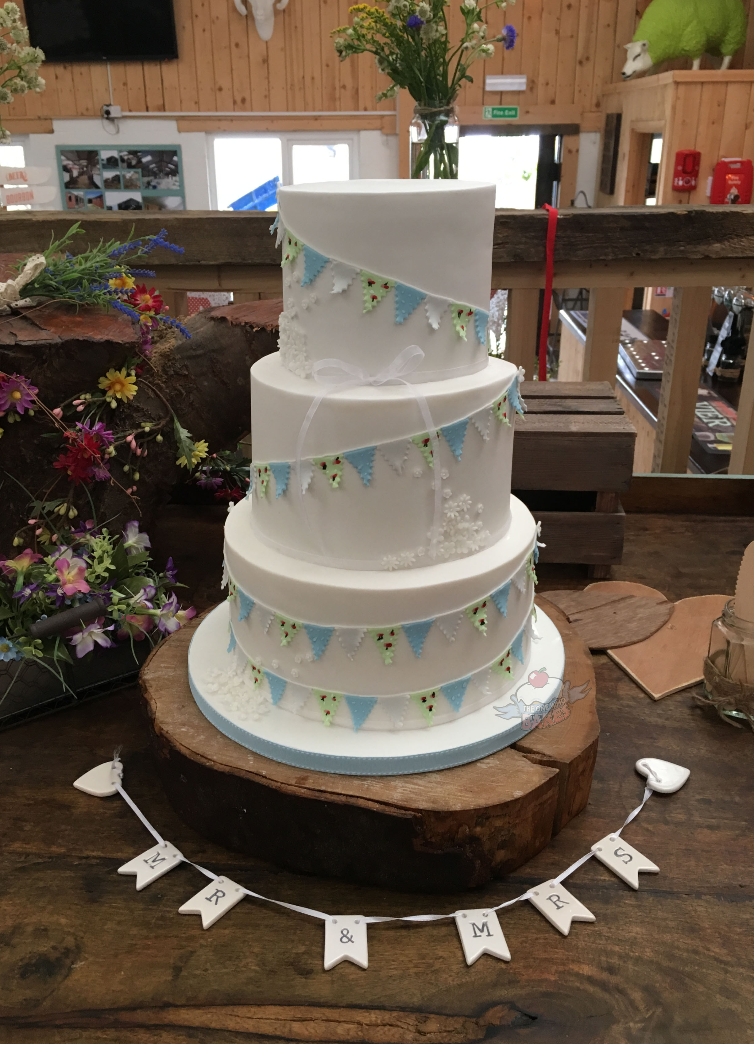 Blossom & Bunting Wedding Cake