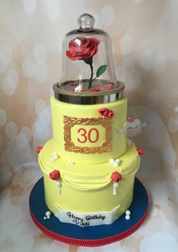 Beauty & the Beast Birthday Cake