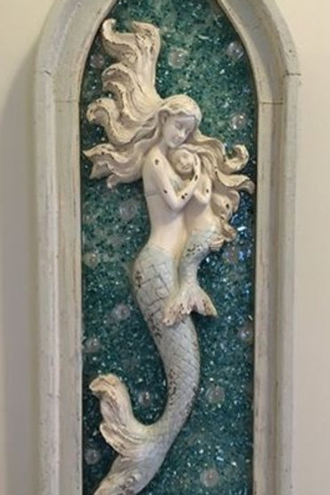 Mother and daughter mermaid
