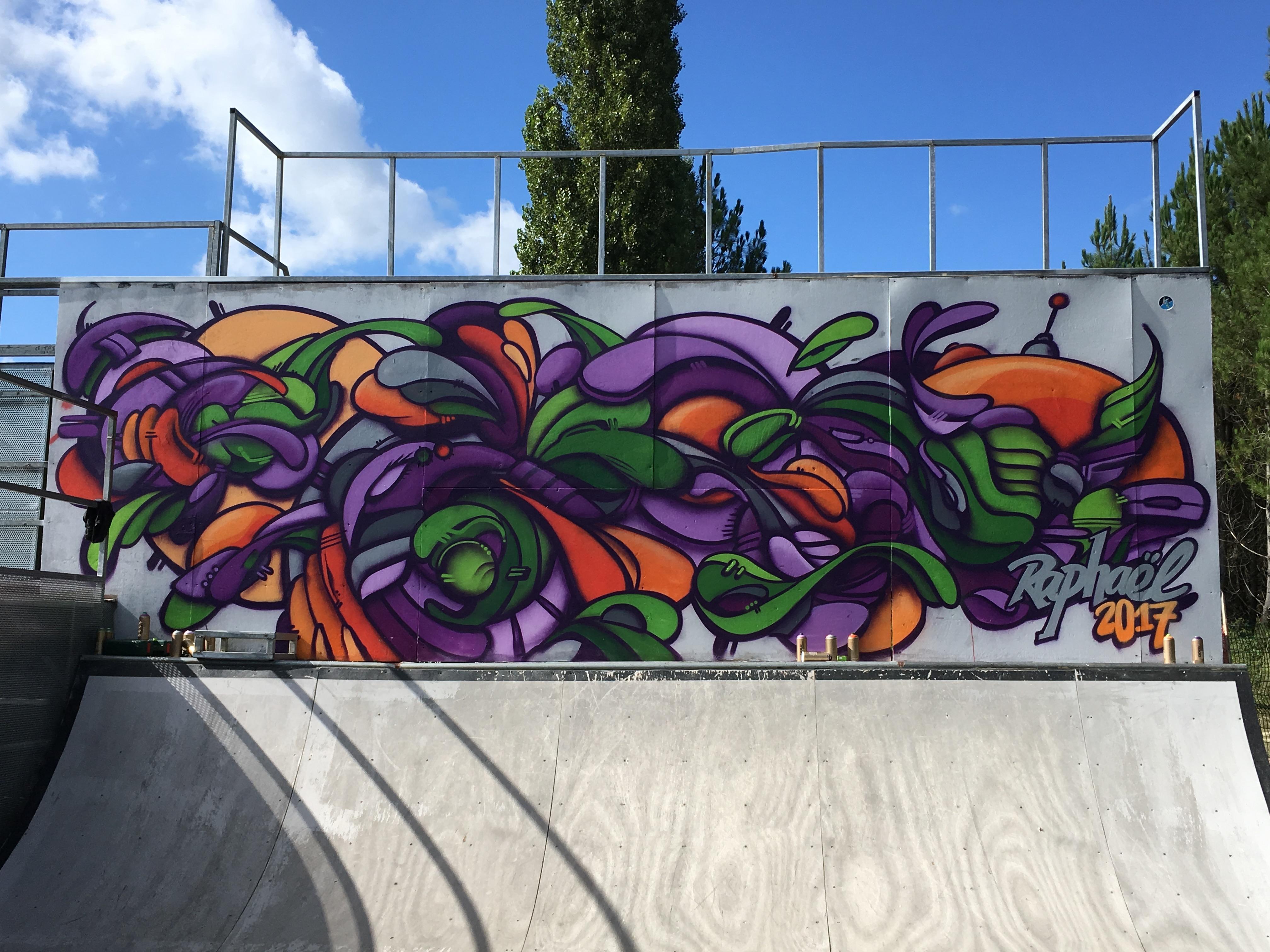 Graffiti Skate Park cestas