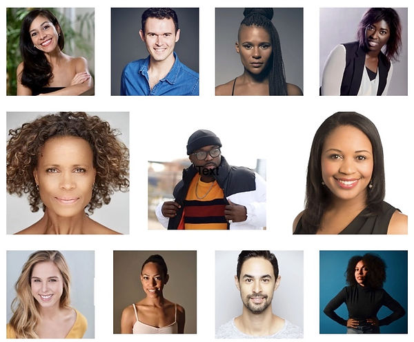 A collage of headshots of the various faculty of Joffrey Texas's summer workshop.