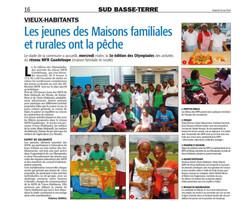 Les jeunes des Maisons Familiales Rurales ont la pêche - Article du 23 mai 2014