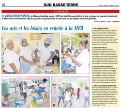 Les arts et les loisirs en vedette à la MFR - Article du 3 juin 2017