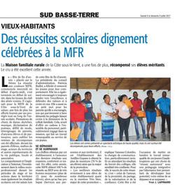 Des réussites scolaires dignement célébrés à la MFR - Article du 8 juillet 2017