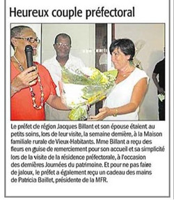 Heureux couple préfectoral - Article du 27 mars 2017