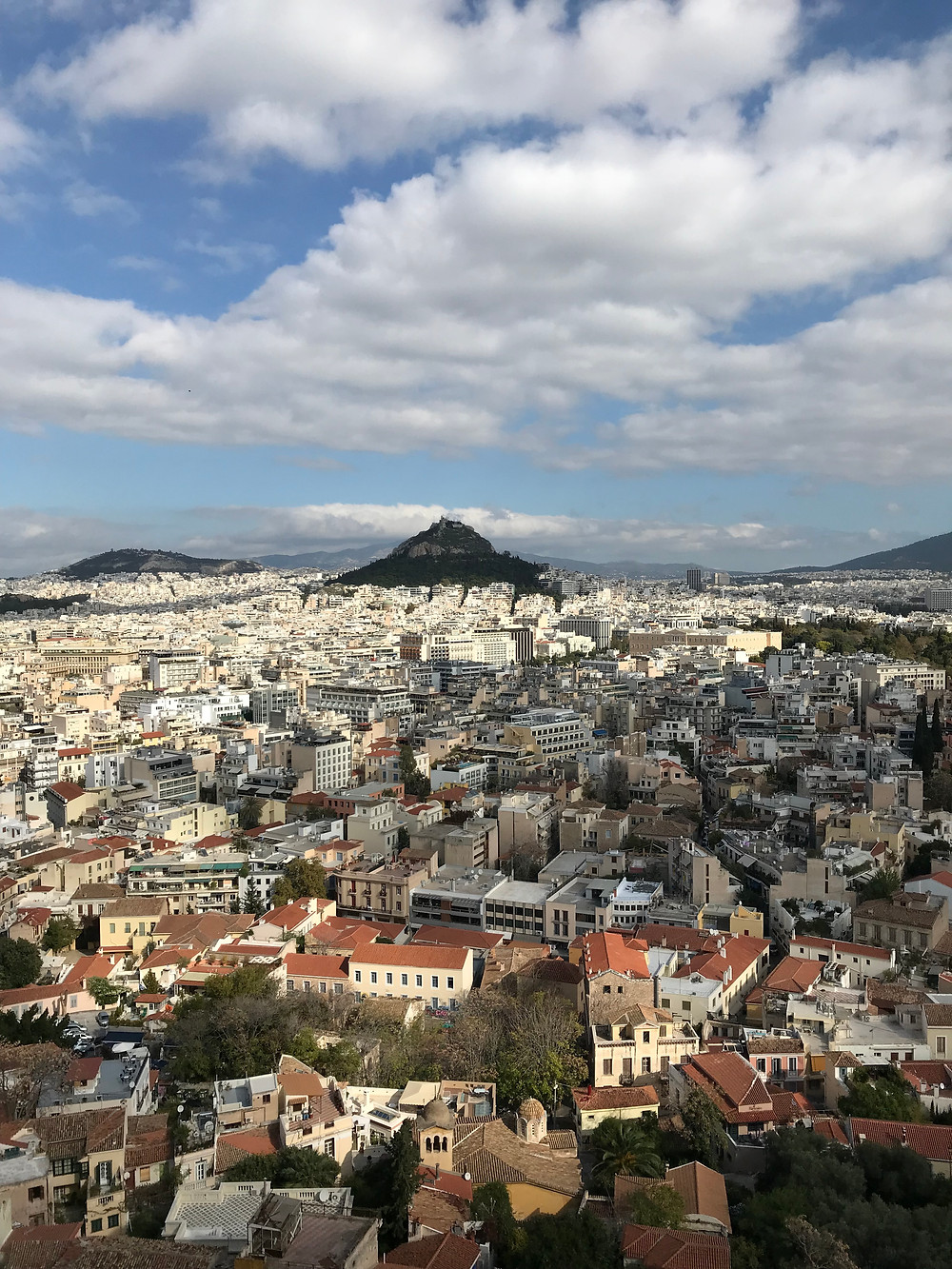 View of Athens from the Acropolis.