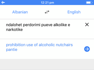 (I was trying to translate a warning sign on the train from Durres to Shkoder.)
