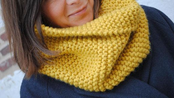 Dimanche - Atelier tricot : mon 1er gros snood