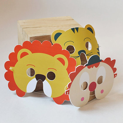 (b) Dimanche - Masque Lion, tigre, Clown (1)