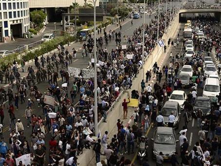 Жители Тель-Авива перекроют шоссе Аялон в знак протеста против перекрытия шоссе Аялон