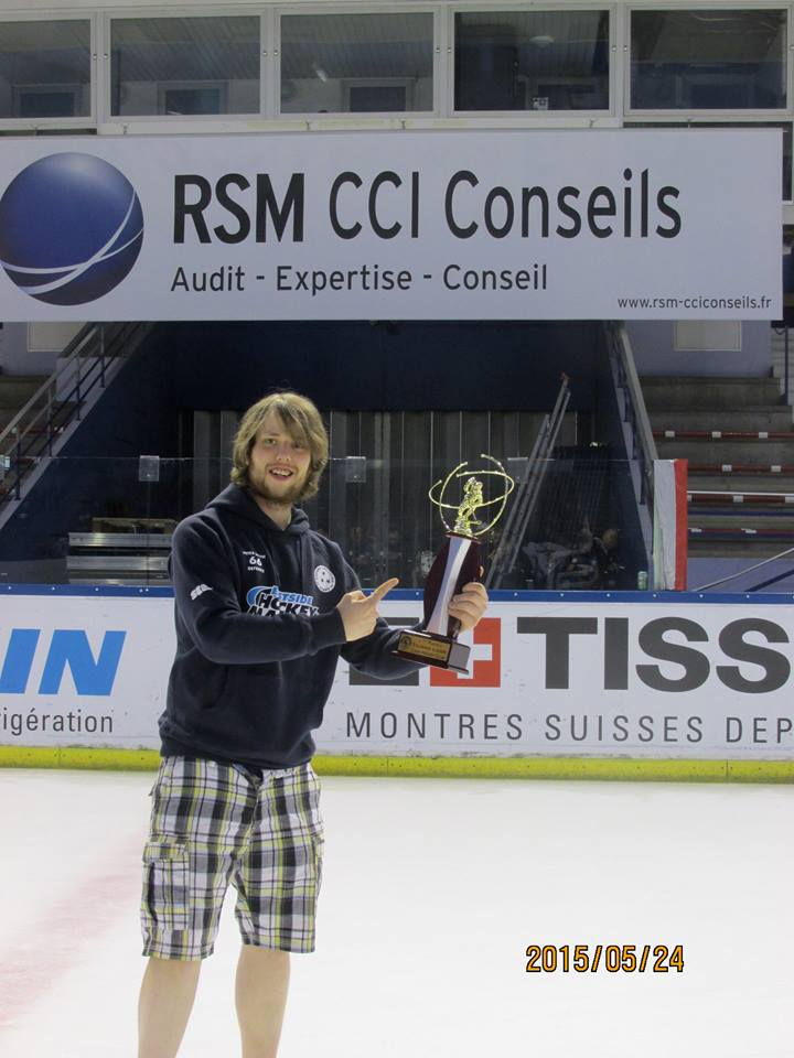Pete with lyon trophy