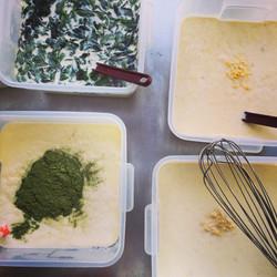 Infused ice cream custard base