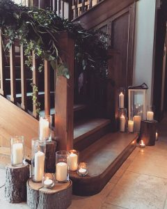 Our dressed staircase at Cain Manor