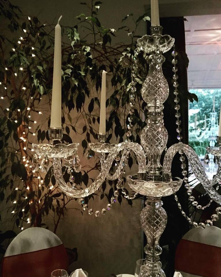Swarvoski trimmed crystal candelabra