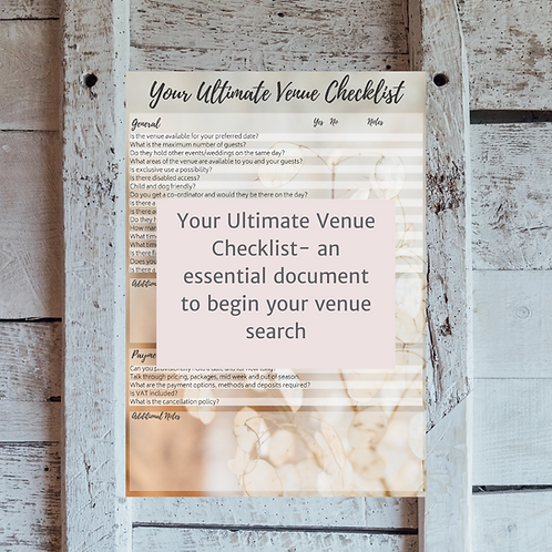 Your Ultimate Venue Checklist - 4 page document