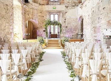 Beautifully romantic wedding at Lulworth Castle