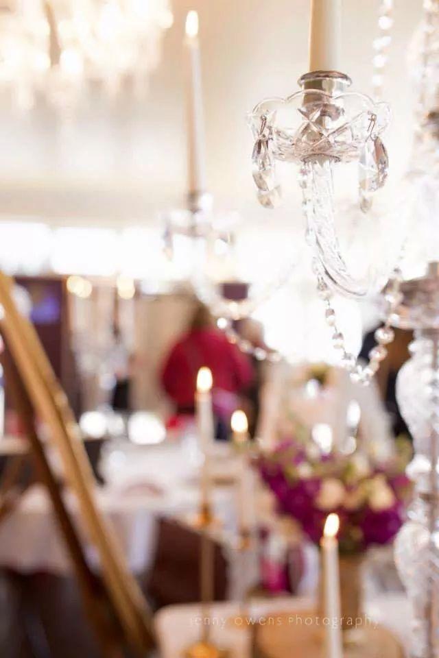 warovski trimmed crystal candelabra