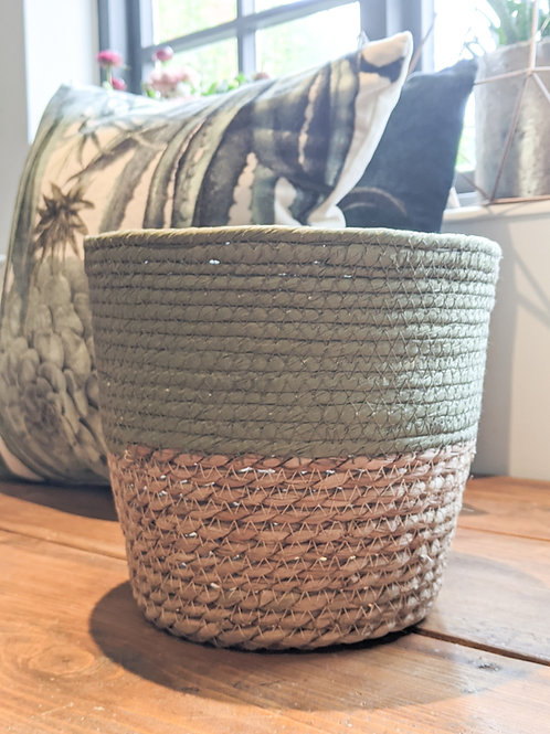 Seagrass Plant Pot -two tone Green