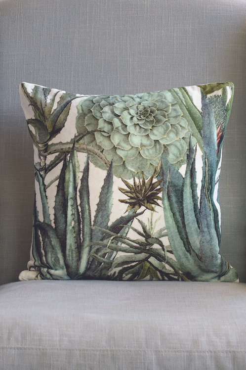 Velvet Cushion- Succulents