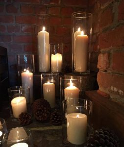 Candles at Cain Manor