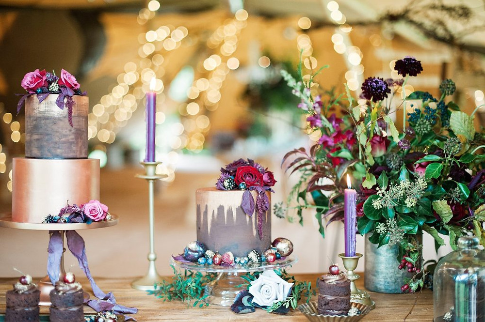Dessert table at the Woodland Luxe shoot