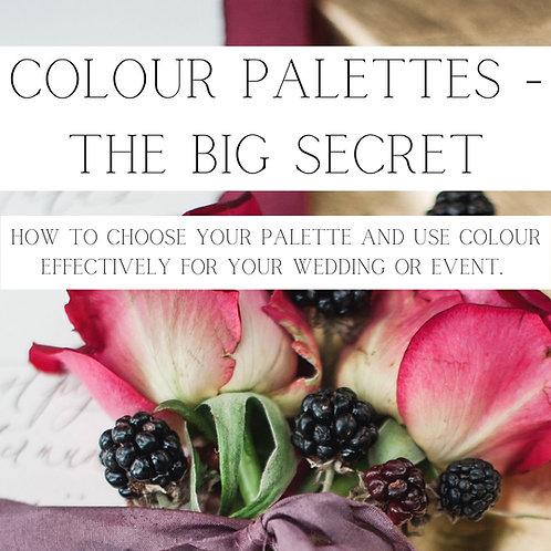 Colour Palettes - The Big Secret