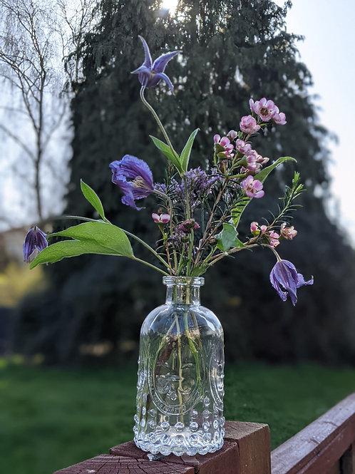 Glass Bottle Vase- French