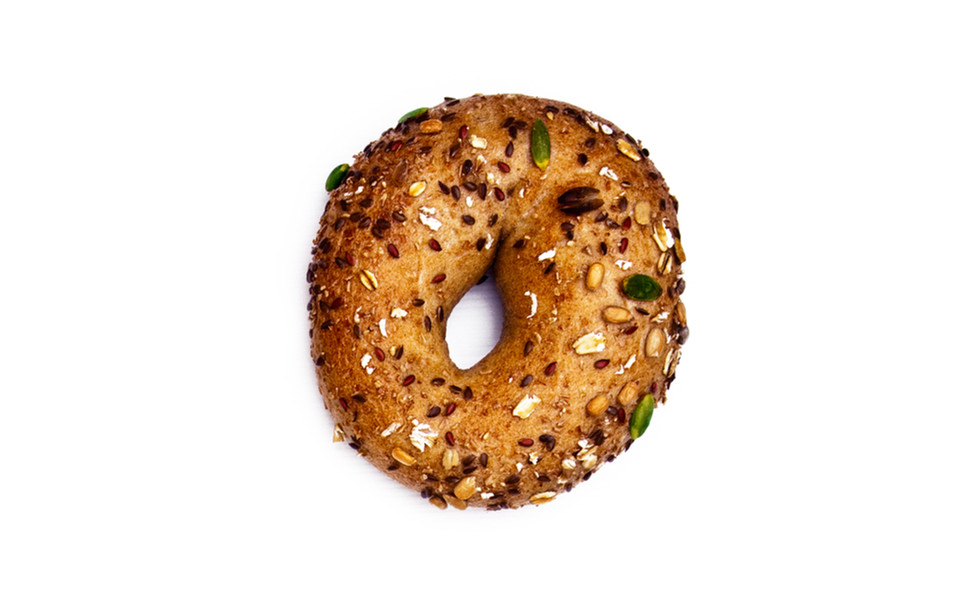 Vegan everything bagel snack